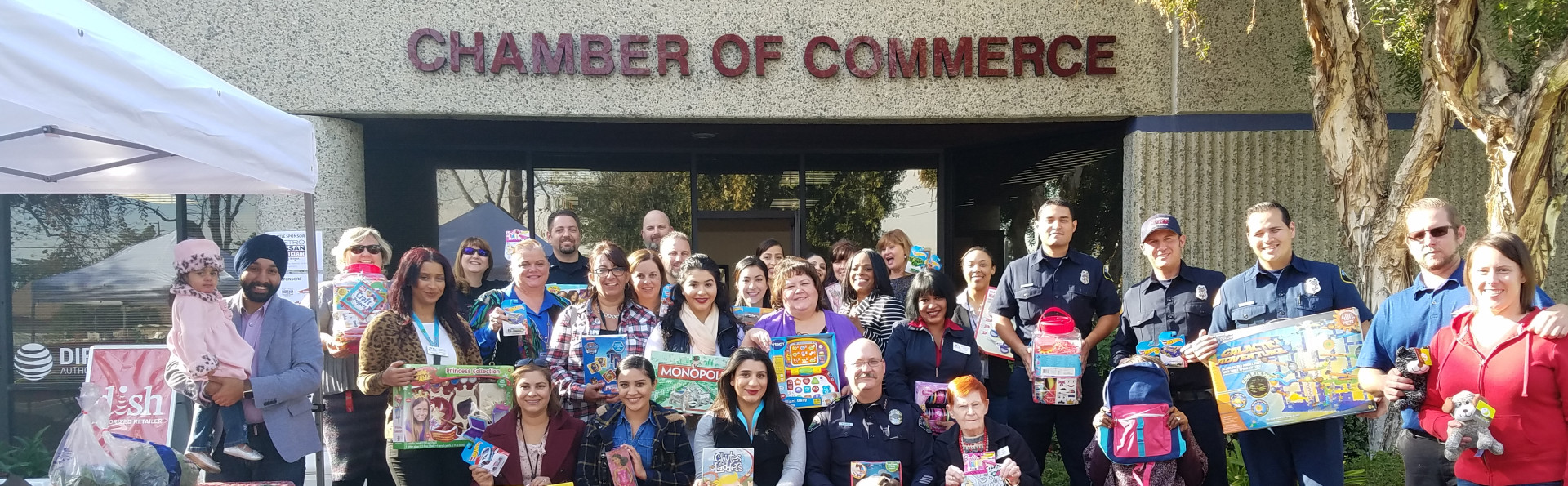Our members donate toys at the Chamber office
